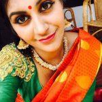 Bigg Boss 2 tamil, Yaashika Aanand, Orange Saree, Selfie