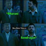 Bigg boss 2 memes, bigg boss tamil 2 troll, Sendrayan, barani