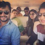 Bobby Simha, Reshmi Menon, friends, car