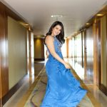 Catherine Tresa, full size, smile, blue dress