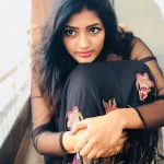 Eesha Rebba, face, black dress