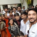 Gautham Karthik, selfie, Mr. Chandramouli, movie pooja
