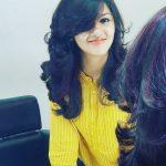 Gayathri Suresh, yellow t shirt, new hair style