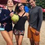 Jacqueline Fernandez, Friends, Beach, Enjoyment