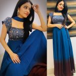 Janani Iyer, Bigg Boss 2 Tamil, rare picture, blue colour, large size