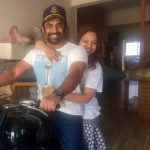 Madhavan, wife, white dress, bike