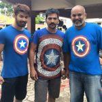 Mahat Raghavendra, Bigg Boss 2 tami, Vaibhav, Venkat prabu, Blue T Shirt