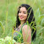 Malavika Menon, grass, photo shoot