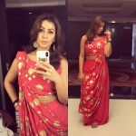 Nikki Galrani, fansy dress, selfie