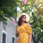 Pooja Devariya, yellow dress, beautiful cap