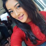 Pooja Jhaveri, red dress, selfie