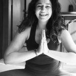 Poonam Bajwa, Black and white, yoga