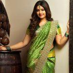 Poonam Bajwa, Green Saree, fresh