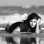 Rakshita, Goli soda 2 actress, Beach, Lying, glamorous, black