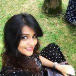 Remya Nambeesan, black dress, selfie, garden