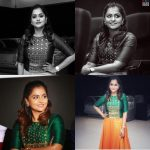 Remya Nambeesan, green colour dress, collage, BW image