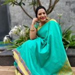 Rethika Srinivas, green saree, event