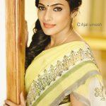 Rethika Srinivas, yellow saree, unseen