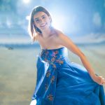 Rukshar Dhillon, blue dress, smile, festival