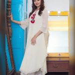 Rukshar Dhillon, white colour dress, full size