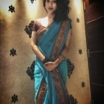 Vaishnavi Prasad, Bigg Boss 2 tamil, vijay tv, Blue Saree, favorable
