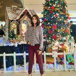 Vedhika beside christmas tree  (7)