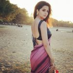 Vedhika chilling in bali in saree back less  (12)