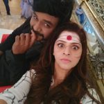 Vedhika with raghava lawrence in kanchana 3 shooting spot  (11)