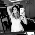 actress kaniha  black and white selfie  (32)