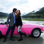 actress kiara advani in machine movie still pink car  (8)