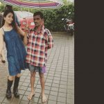 anaika soti photo at shootiing spot in blue green gown and black boots (8)