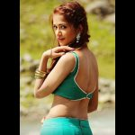 anaika soti photo back pose green blouse (11)