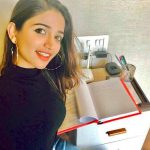 anaika soti photo black dress reading script(1)