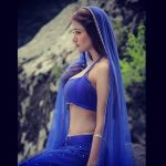 anaika soti photo blue lehenga (22)