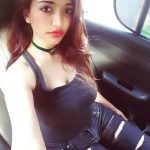 anaika soti photo car selfie black tank top torn jean (12)