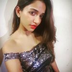 anaika soti photo shining black dress selfie(18)