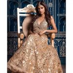 anukreethy vas Miss TamilNadu India 2018  abujani sandeep koshla golden royal wear (38)