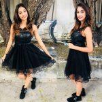 anukreethy vas Miss TamilNadu India 2018  black frock (13)