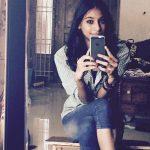anukreethy vas Miss TamilNadu India 2018 casual selfie at home jeans shirt  (1)