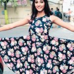 anukreethy vas Miss TamilNadu India 2018 flower braided frock  (17)