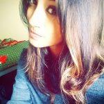 anukreethy vas Miss TamilNadu India 2018 selfie with free hair and blue shirt  (3)