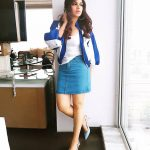 bhumi pednekar  jean skirt with blue top dress by window (31)