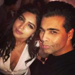 bhumi pednekar  with karan johar partying white dress revealing (22)