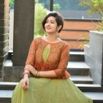 megha mathew in traditional olive green and brown churidhar (11)