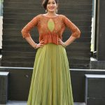 megha mathew in traditional olive green and brown churidhar (12)