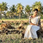 rachitha dinesh mahalakshmi Saravanan Meenakshi actress, instagram and travel photos  (10)traditional look in village