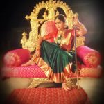 rachitha dinesh mahalakshmi Saravanan Meenakshi actress, instagram and travel photos  (12) dressed as queen royal attire saree and jewels for2