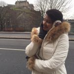 rachitha dinesh mahalakshmi Saravanan Meenakshi actress, instagram and travel photos  (3) in white  winter wear in UK