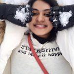 rachitha dinesh mahalakshmi Saravanan Meenakshi actress, instagram and travel photos  (3) in white  winter wear in UK snow close up