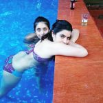 Actress of Sacred Games, Sexy Durga Rajshri Deshpande in bikini in swimming pool  (1)